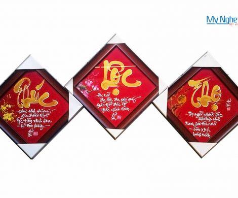 Bộ 3 tranh chữ Phúc - Lộc - Thọ MNV-TP014