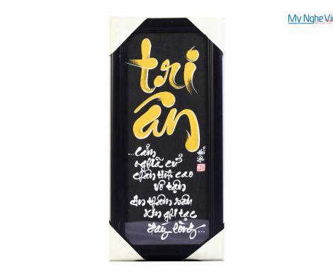 Tranh chữ Tri ân MNV-TP050