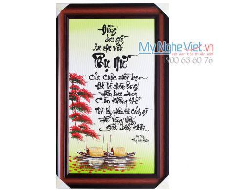 Tranh Chữ Phụ Nữ MNV-TPYC35-5