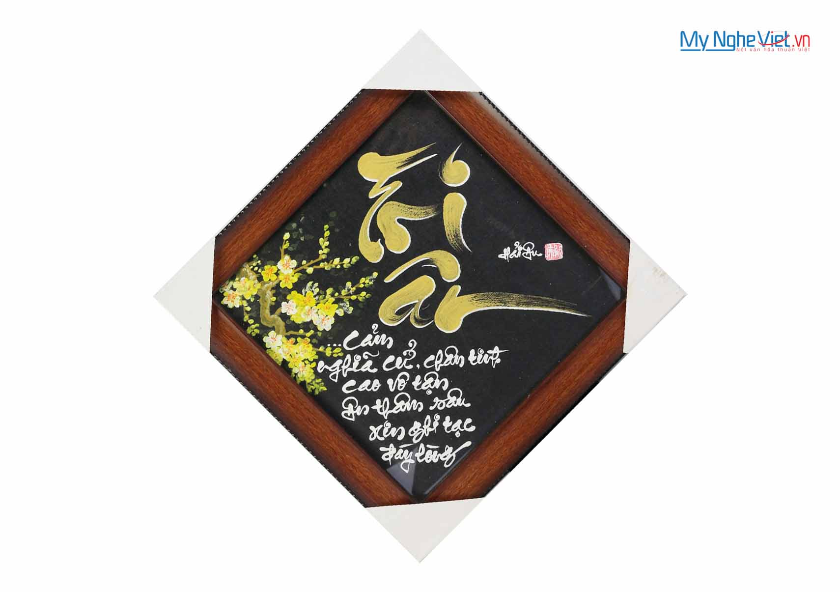 Tranh Thư Pháp chữ Tri Ân MNV-TP041