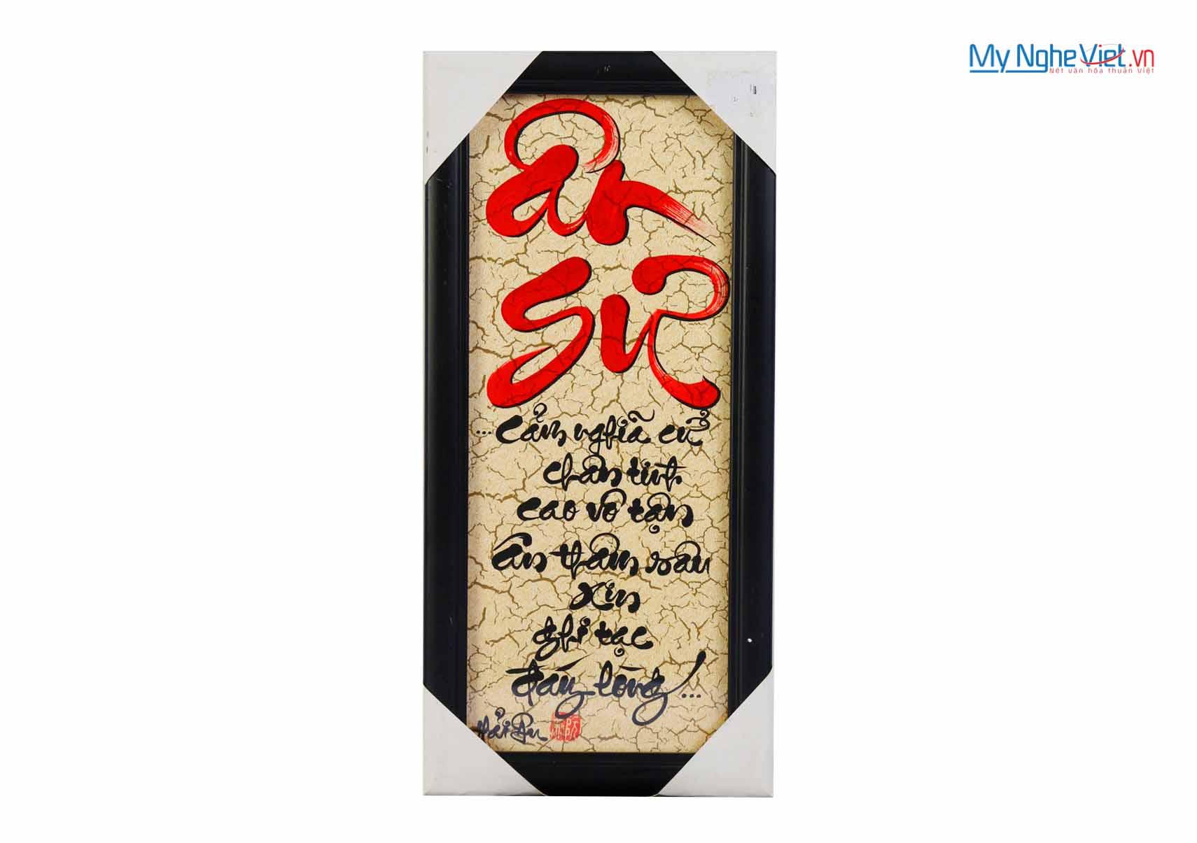 Tranh chữ Ân Sư MNV-TP054