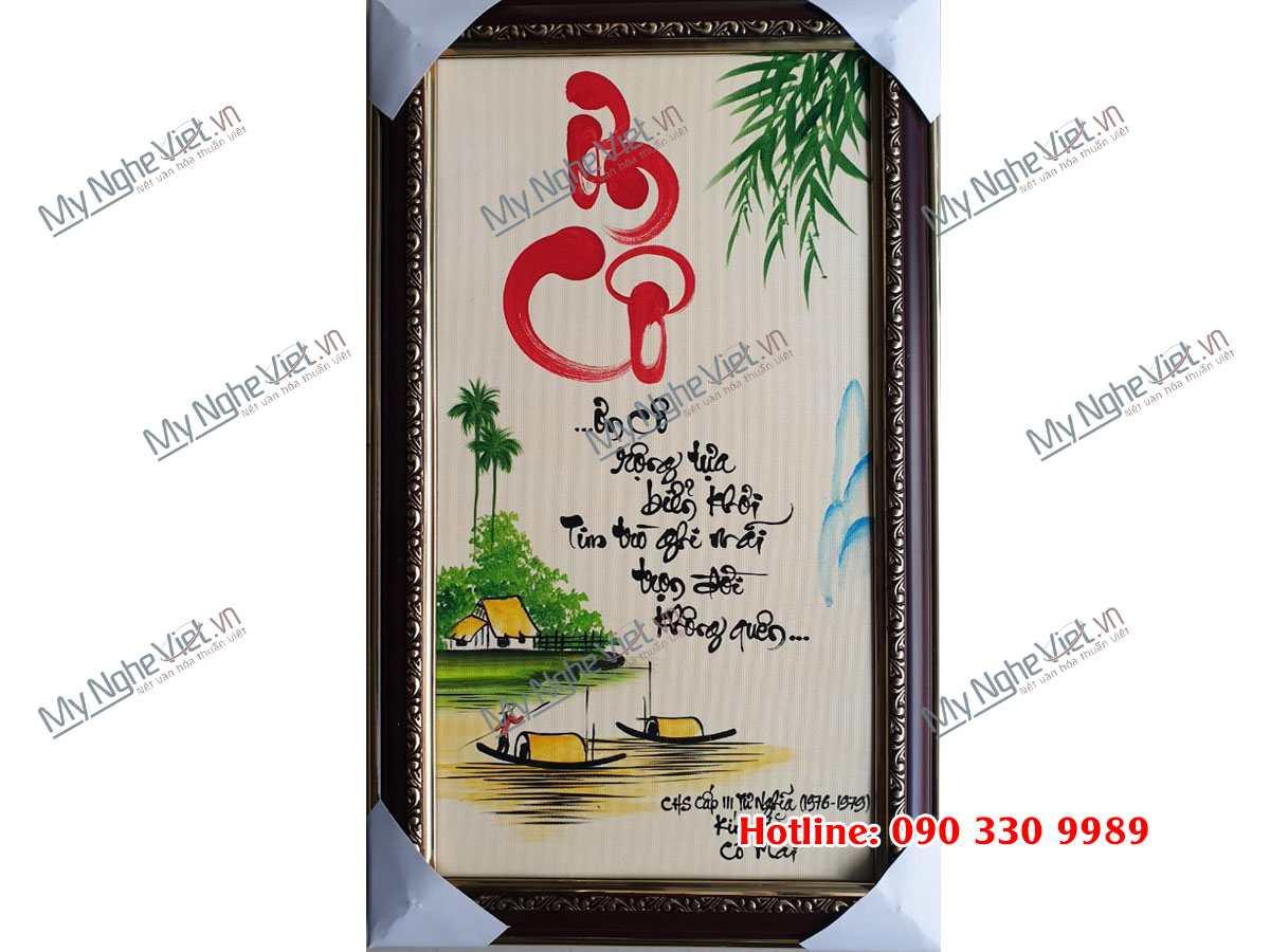 Tranh Chữ Ơn Cô MNV-TTPYC3050-2