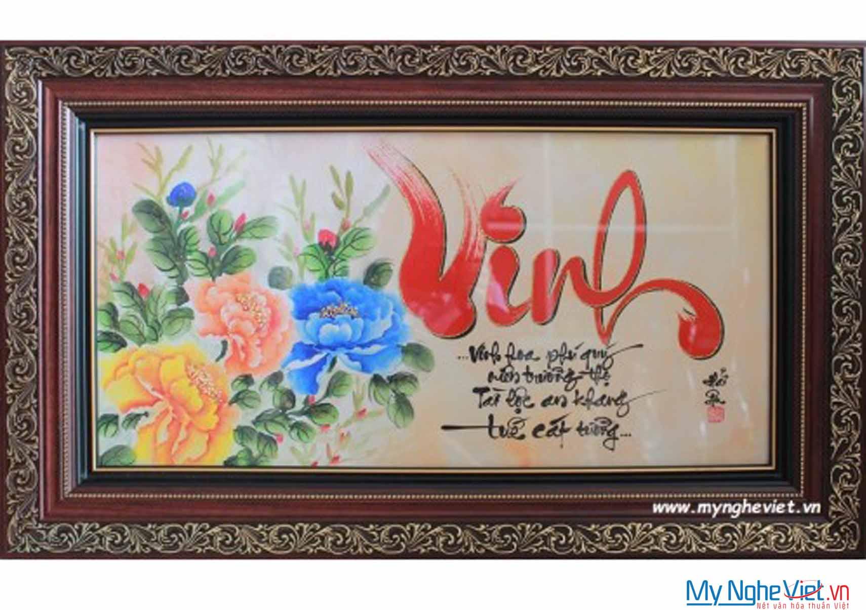 Tranh chữ Vinh MNV-TP060